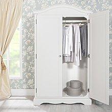 Romance Antique white full hanging wardrobe.