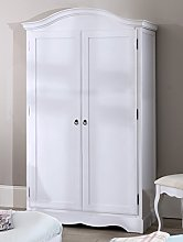 Romance White Double Wardrobe, French full hanging