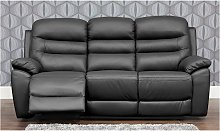 Romano Reclining 3 Seater Leather Sofa Available