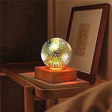 Romantic Firework Light Glass USB Beautiful