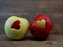 Romantic Fruit Gift apple-50x60cm,DIY 5D Diamond