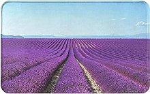 Romantic Lavender Welcome Door Mat Indoor Outdoor