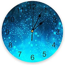 Romantic Night PVC Wall Clock, Silent Non-Ticking