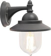 Romantic outdoor wall lamp dark gray - Oxford