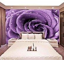 Romantic Purple Rose Flower 3D Wallpaper Hotel