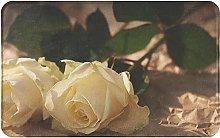 Romantic Roses Welcome Door Mat Indoor Outdoor