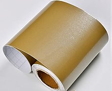 ROMDEANK Wallpaper Border Shiny Gold Self Adhesive