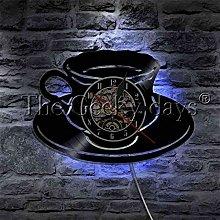 ROMK Wall Clocks Coffee Tea Mug Kitchen Office