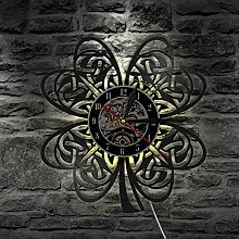 ROMK Wall Clocks Irish Clover Leaf Shamrock Wall