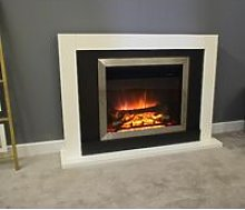 Romney Electric Fireplace Fire Heater Heating Real