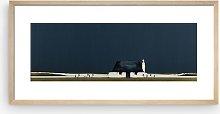 Ron Lawson - Black Cottage Framed Print & Mount,