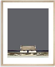 Ron Lawson - Black House Framed Print & Mount, 60