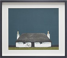 Ron Lawson - Cottage And Bike, Framed Print, 45 x