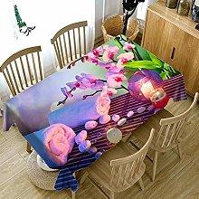 RONGER 3D Purple Flower Pattern Tablecloth