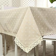 RONGER Daisy Flower Pattern Tablecloth Linen and