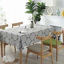 RONGER Gray Tablecloth Cotton Linen Table Cloth