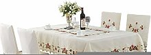 RONGER High-grade Embroidered Round Tablecloth