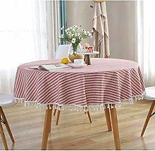 RONGER Modern Striped Tassel 150 Cm Round Table