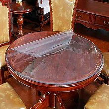 RONGER Round Tablecloth Transparent PVC Tablecloth