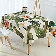 RONGER Tablecloth Tropical Banana Leaf Waterproof
