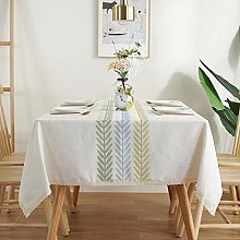RONGER Three Thread Embroidery Tablecloth New