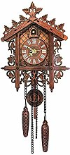 RONGJJ Wooden Cuckoo Clock, Traditional Style,