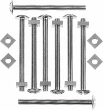 Roofing Bolts With Nuts M6 x 3 1/8'-M6 x 80mm | Pack of 100 - PRBN680 - Picardy