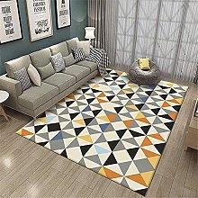 Room Carpet Yellow Rug Gray Geometric Contemporary