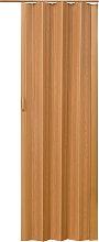 Room divider interior folding door - hase walnut