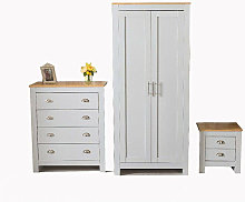 Roomee - 2 Door Wardrobe Bedside Table Chest of