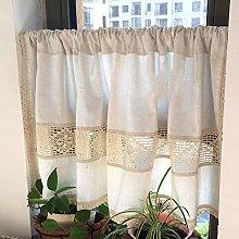 ROONC Kitchen Half Curtain/Curtains, Cotton