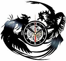 Rooster Vinyl Record Clock Rustic Kitchen Wall
