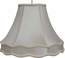 Rope Trim Lightshade with Double Scallop 14 Inch
