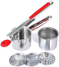 Rorence Stainless Steel Potato Ricer with 3
