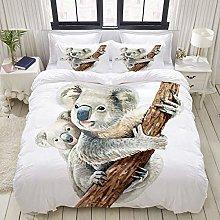 Rorun Duvet Cover Set, Portrait Koala Baby