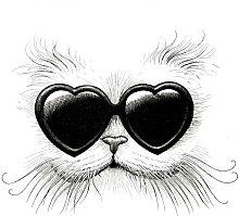 Rory Dobner Love Cat Unframed Print, A3,