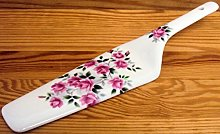 Rosalie Pink Roses Cake Server Fine Bone China
