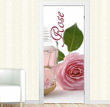 Rose, Flower Door Sticker East Urban Home