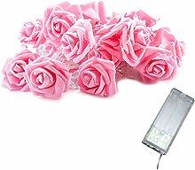 Rose Flower Light 2M 10 Lights LED Rose String