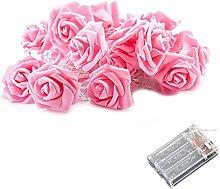 Rose Flower Light 6M 40 Lights LED Rose String