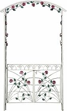 Rose Garden Arch Arbor with Gate, for Climbing