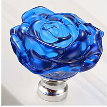 Rose Glass Handle Cabinet Knob Drawer Pull Handle