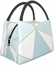 Rose Gold Geometric Mirror Lunch Bag Cooler Bag