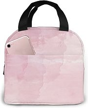 Rose Gold Glitter 9 Portable Insulated Lunch Bag,