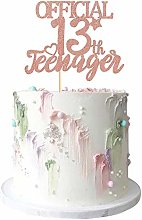 Rose Gold Glitter Officially A Teenager 13 Cake