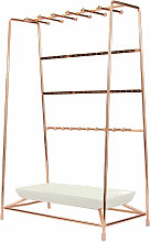 Rose Gold Jewellery Stand with Ceramic Dish   M&W