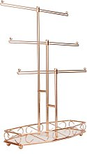 Rose Gold Jewellery Tree Stand   M&W - Rose Gold
