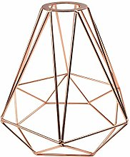 Rose Gold Lampshade Metal Diamond Cage Industrial