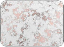 Rose Gold Marble Stone Dish Drying Mat Large