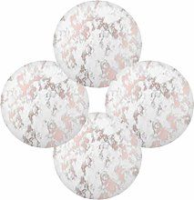 Rose Gold Marble Stone Round Placemats Set of 6